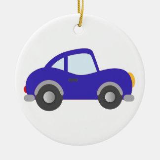 Blue Cartoon Coupe Car Christmas Ornament