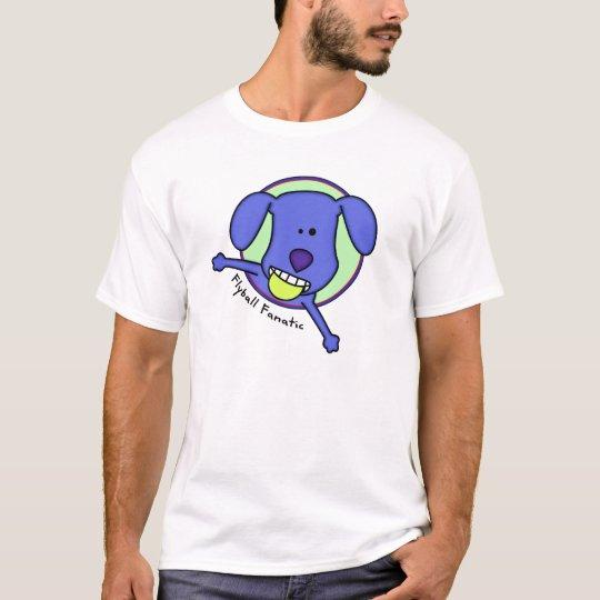 Blue Cartoon Flyball Fanatic T Shirt