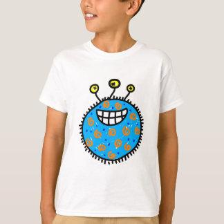 Blue Cartoon Germ Tee Shirt