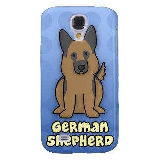 Blue Cartoon German Shepherd Galaxy S4 Case