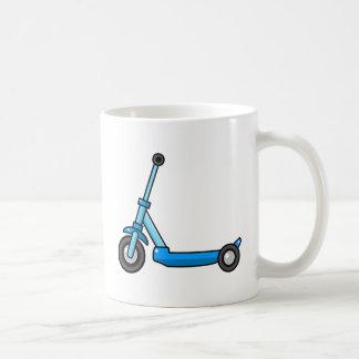 Blue Cartoon Kick/Push Scooter Basic White Mug