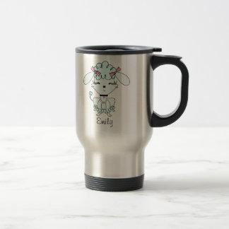 Blue Cartoon Poodle Personalized Mug