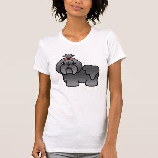 Blue Cartoon Shih Tzu T-Shirt