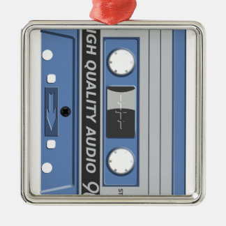 Blue Cassette Retro Christmas Tree Ornaments