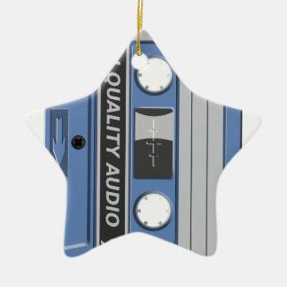 Blue Cassette Retro Christmas Ornament