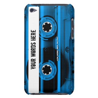 Blue Cassette Tape Personalized iPod Touch Cover