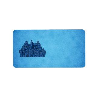 Blue Castle. Label