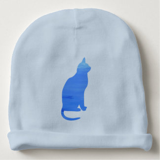 Blue Cat A Gift For The Youngest Baby Beanie