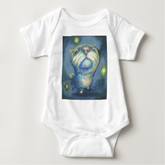 Blue cat and spirits baby bodysuit