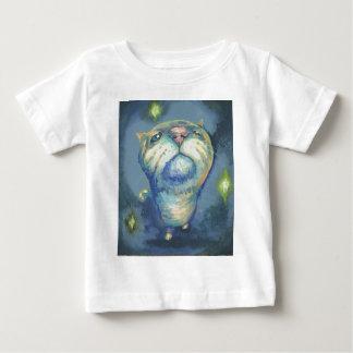 Blue cat and spirits shirt