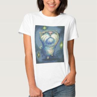 Blue cat and spirits t shirts