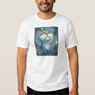 Blue cat and spirits tee shirts