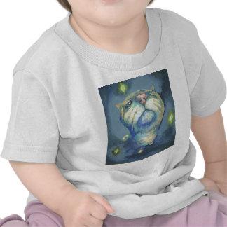 Blue cat and spirits t-shirt