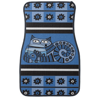Blue Cat Car Mats (Front) (set of 2)