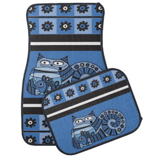 Blue Cat Car Mats Full Set (set of 4)