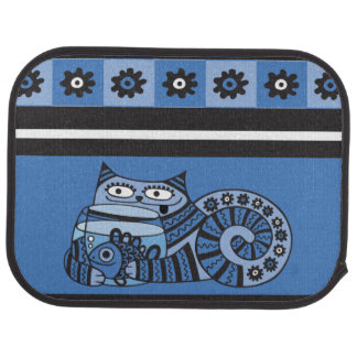 Blue Cat Car Mats (Rear) (set of 2)
