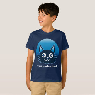 blue cat cartoon style vector illustration T-Shirt