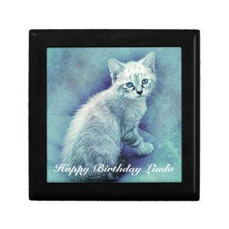 Blue Cat Cute Unique Gift Box