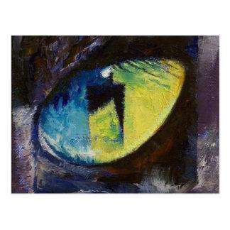 Blue Cat Eye Postcard
