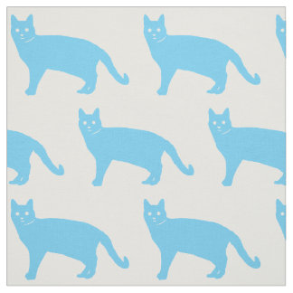Blue Cat Fabric