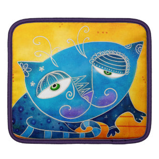 Blue cat iPad sleeve