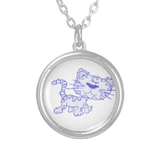 Blue cat pendants
