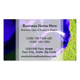 blue cat on side pop art feline animal image business card template
