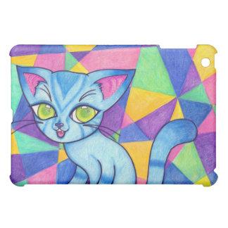 Blue cat on Technocolour background iPad Mini Covers