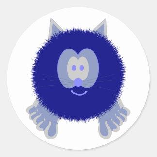 Blue Cat Pom Pom Pal Stickers