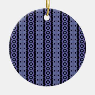 Blue Caterpillar Crawl Round Ceramic Decoration