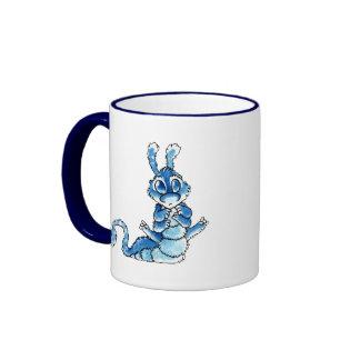 Blue Caterpillar Monster Ringer Mug