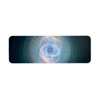 Blue Cat's Eye Nebula Return Address Label