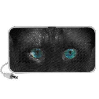 Blue Cats Eyes Doodle Speaker