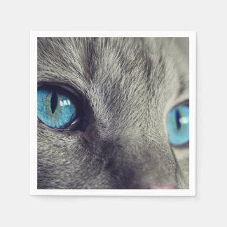 Blue Cat's Eyes Paper Napkin