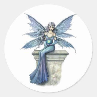 Blue Celeste Fairy Stickers by Molly Harrison