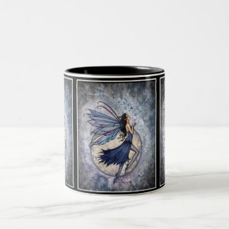 Blue Celestial Fairy Mug by Molly Harrison