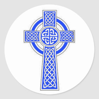 Blue celtic cross design stickers