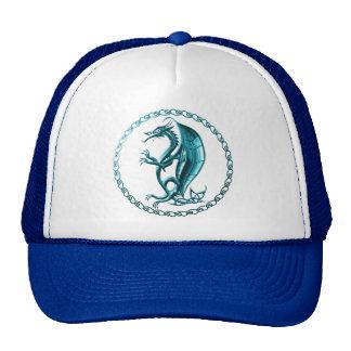 Blue Celtic Dragon Hat