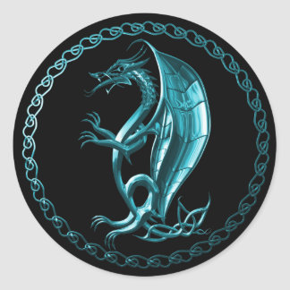 Blue Celtic Dragon Sticker