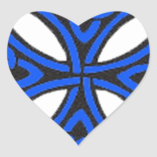 Blue Celtic knot Heart Stickers
