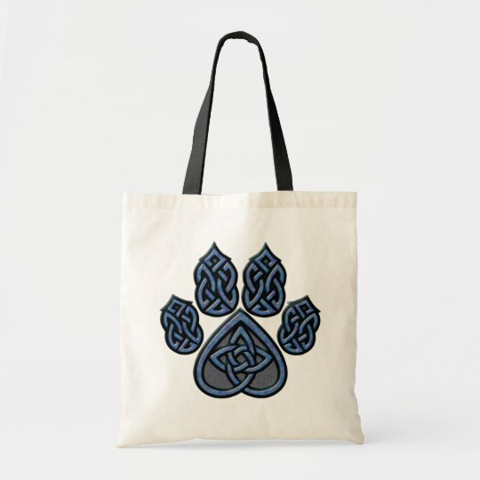 Blue Celtic Pawprint Bag