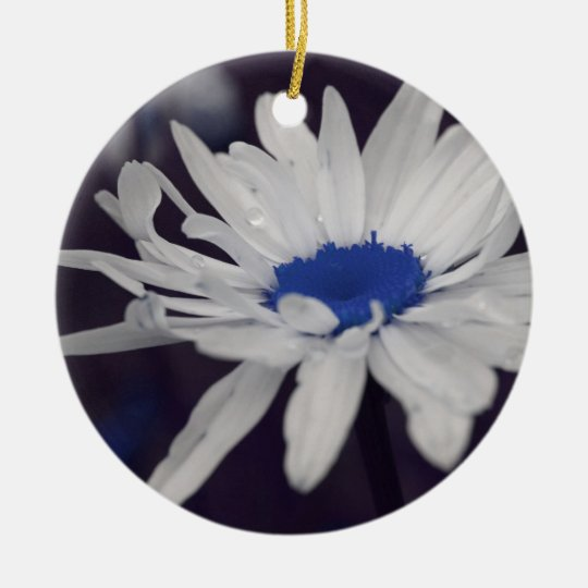 Blue Centre Daisy Flower Ornament