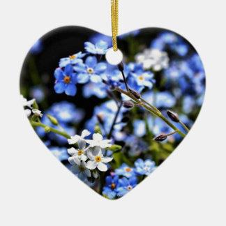 Blue Ceramic Heart Decoration