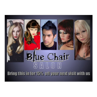 Blue Chair Mailer Postcard