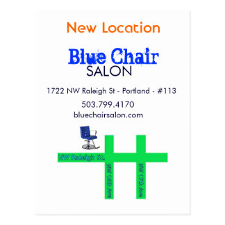 Blue Chair Moving Card Postcard