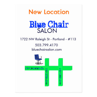 Blue Chair Moving Card Version 3 Postcard