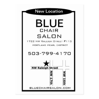 Blue Chair Salon Postcard