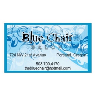 Blue Chair Swirl design Pack Of Standard Business Cards