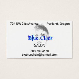 Blue Chair with headshot Business Card