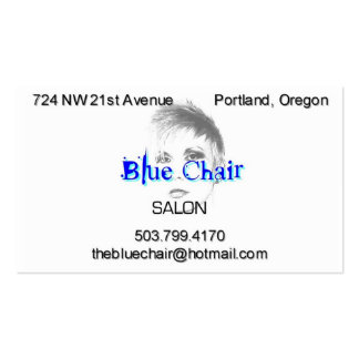 Blue Chair with headshot Pack Of Standard Business Cards